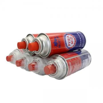 Professional butane gas cartridge canister can cylinder