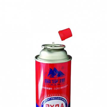 Round Shape Portable 220GR BUTANE GAS CYLINDER NOZZLE TYPE