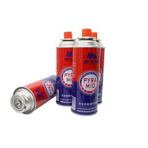 For outdoor grills Disposable butane gas cartridge 220g and cast iron aerosol canister